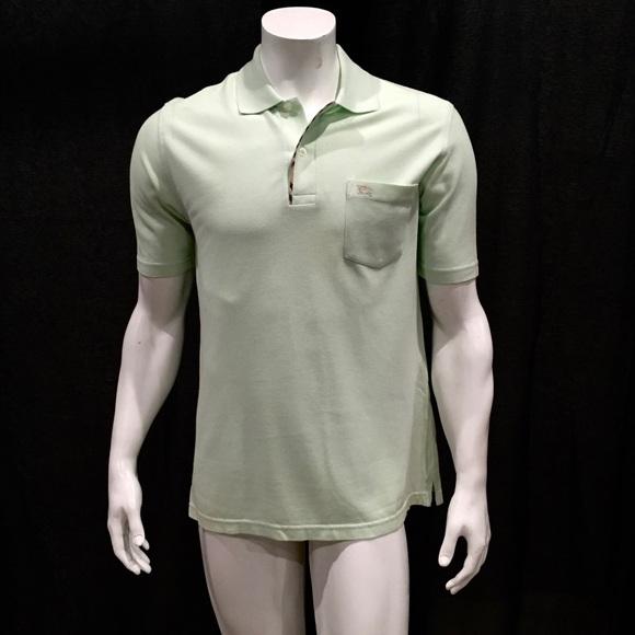 7e1cae68 Burberry Shirts | London Mens Light Green Polo Shirt | Poshmark
